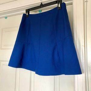 J. Crew Blue Flare Skirt